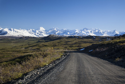 unpaved portion of the Denali Highway | by BLM Alaska