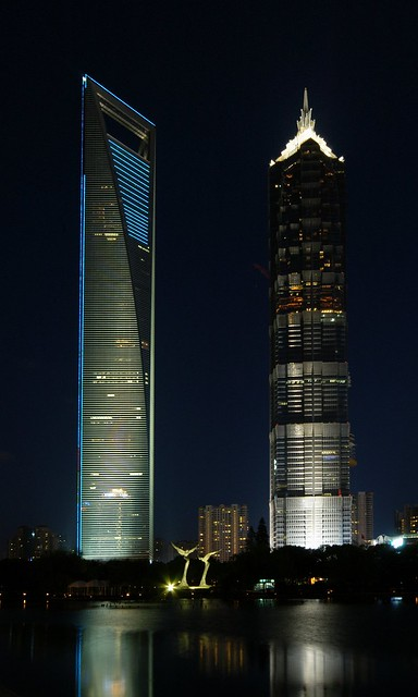 Shanghai - SWFC and Jin Mao Tower...