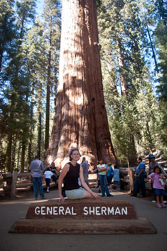 Jenn at the General Sherman Tree | by nocureforgravity