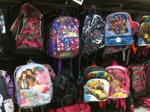 Backpacks at Penn Station Kmart | by brownpau