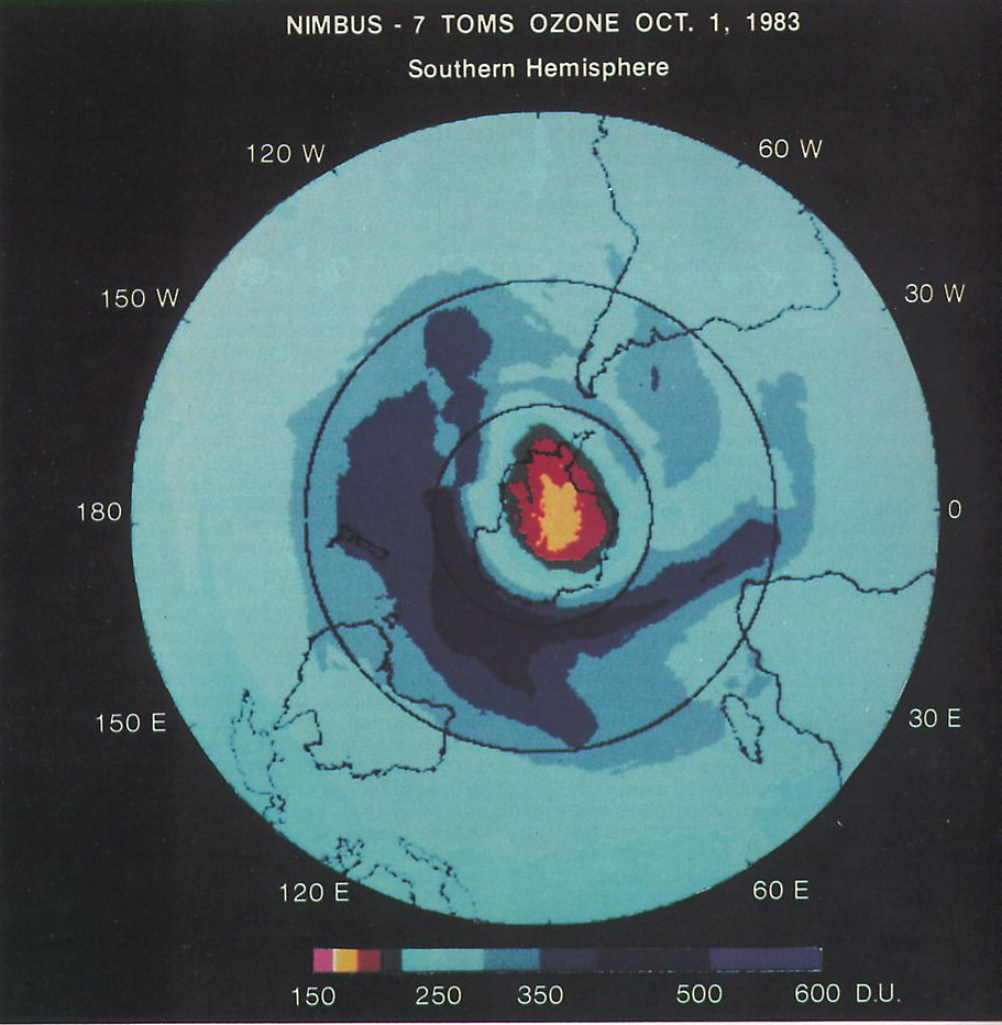 First Space-Based View of the Ozone Hole