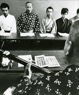 Professor Leonard Pronko at the Kabuki Training Program at the National Theatre of Japan in 1970. He was the first non-Japanese to study there