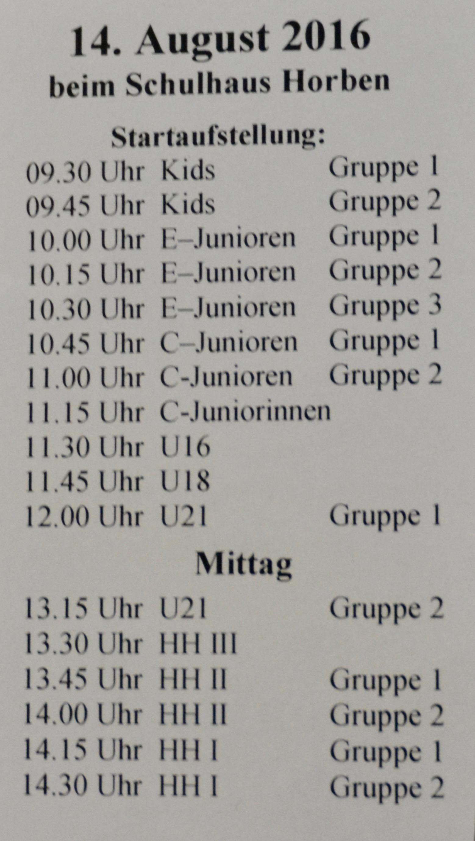 Verein - Sponsorenlauf Saison 2016/17