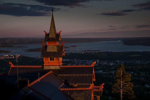 oslo norwegen no norway norge oslofjord fjord sunset hotel scandic scandinavia