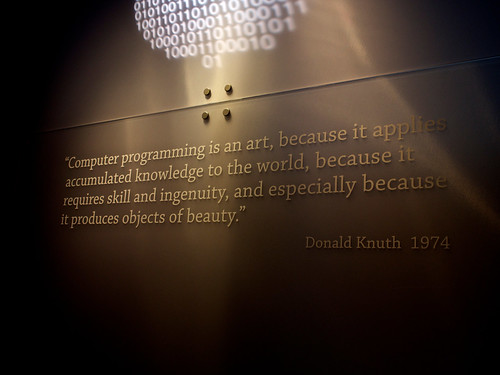 Knuth Quote | by Brad Montgomery