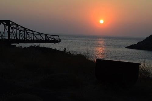 abandoned mines greece grecia serifos island mediterraneo sea sunset outdoor miners strikes