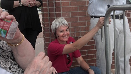 Julie Turner at the Ted Cruz rally watching Sarah Palin | by kwtp2012