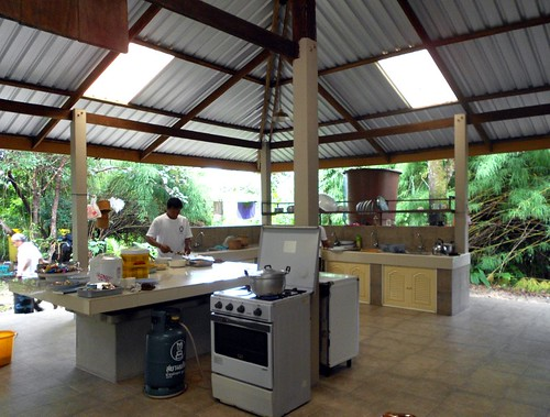kitchen at wat | המטבח במנזר | by Thai Food Blog