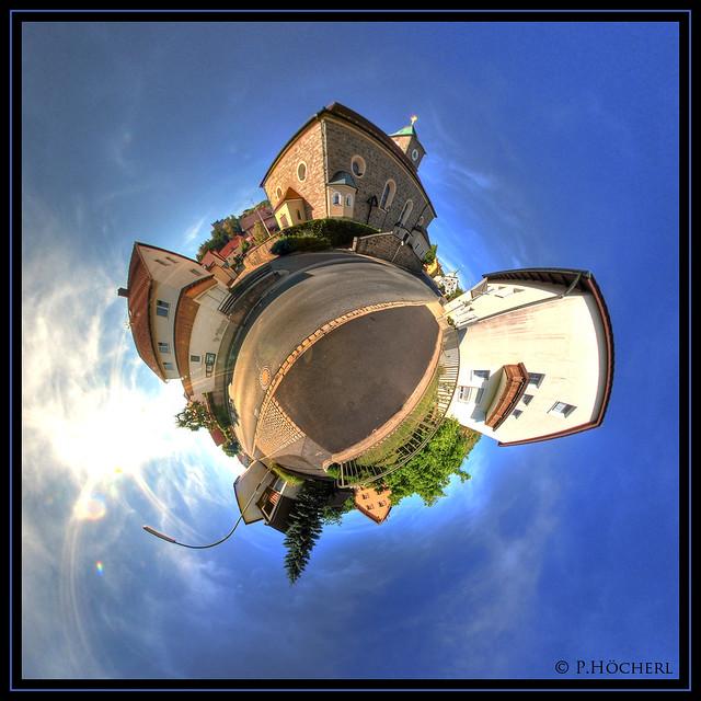 Flossenbürg unterhalb der Kirche