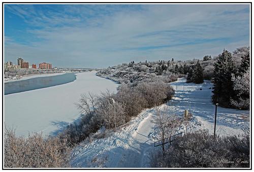 winter light snow canada cold ice nature water sunshine river saskatchewan prairies