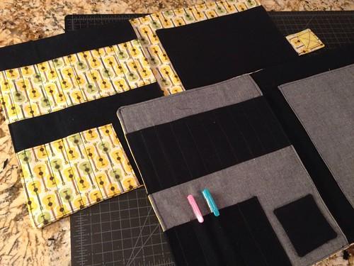 Sewing for boys art/crayon portfolio