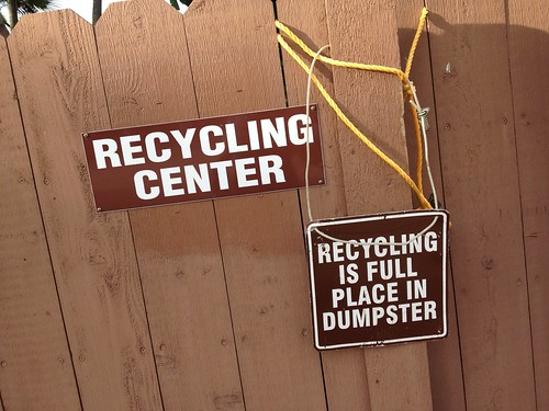 So... get another recycling bin! | by Erin *~*~*