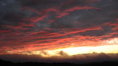 sunset clouds us nc highlands unitedstates nubes crepusculo wnc sunsetrock