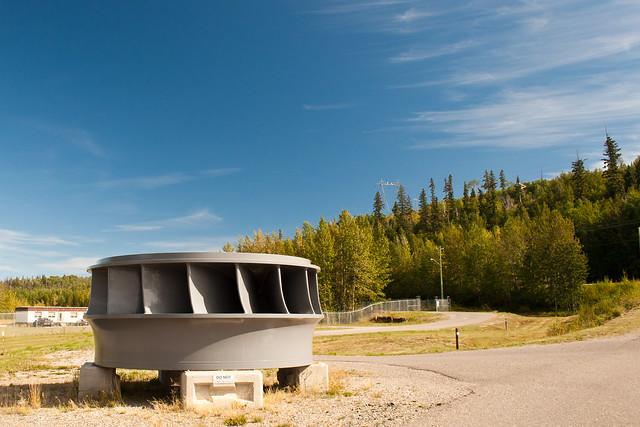 Hydroelectric Turbine on display at WAC Bennett Dam