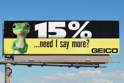 GEICO billboard - Santan Freeway Loop 202, Chandler, AZ