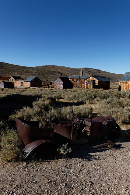 Old car in the ghost town of Bodie