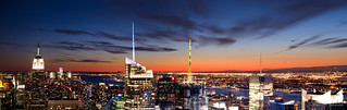 New York Sunset Panorama | by ShotHotspot.com