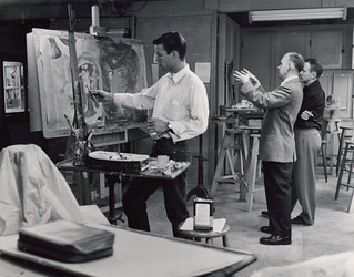 Richard Chamberlain '56 as an art student in Rembrandt Hall