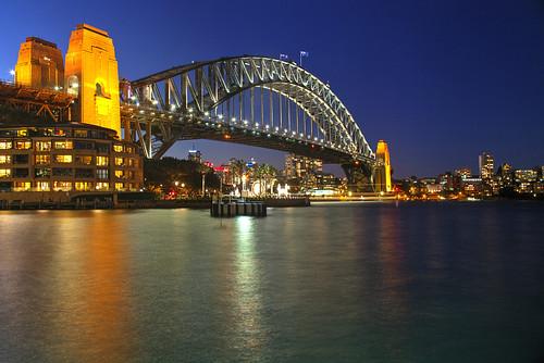 newsouthwales bluehour australia nsw sydney evening sunset bridge