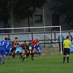 Huntly defend a Lossiemouth corner