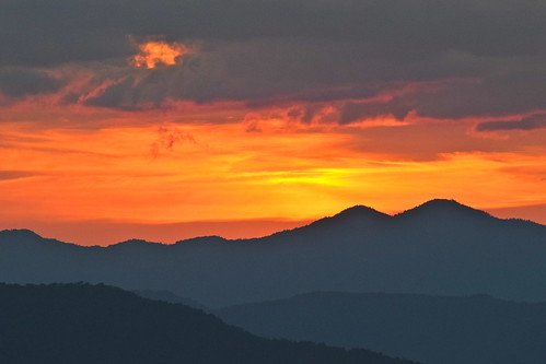 sunset sky clouds landscape mountains pisgah nc wnc nationalforest northcarolina brp blueridgeparkway weather