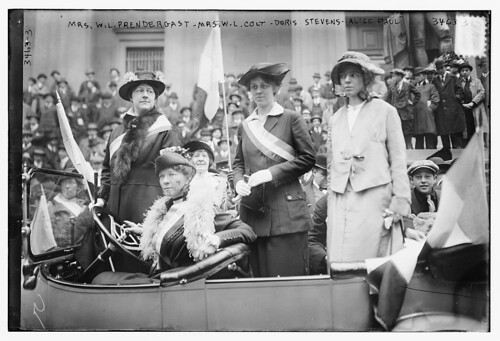 Mrs. W.L. Prendergast, Mrs. W.L. Colt, Doris Stevens, Alice Paul  (LOC)