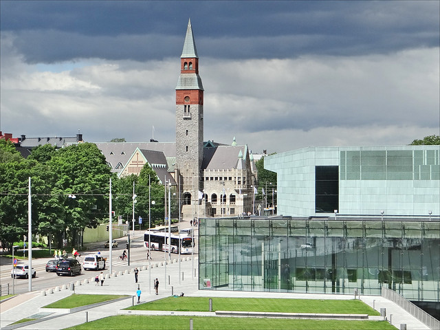 Le musée national et la nouvelle maison de la musique (Helsinki)