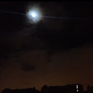 okay. here's the iPhone version. #bluemoon #nofilter | by sarahwulfeck