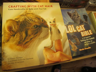 Spocked an eyebrow at 'Crafting with cat hair' book - seen in Brighton | by Rain Rabbit