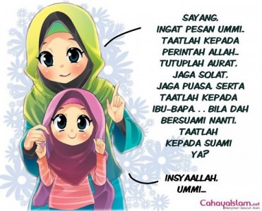7400 Gambar Kartun Muslimah Ibu Dan Anak Perempuan HD