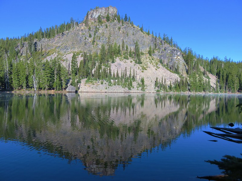 Pulpit Rock from Middle Rosary Lake