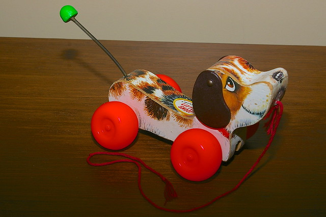 Fisher Price 693 Little Snoopy Wood Dog Pull Toy ©1965 - 1