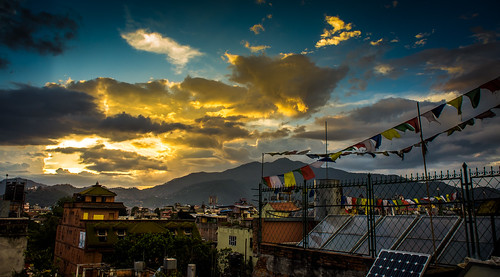 city travel nepal sunset sky clouds cityscape kathmandu centralregion ringexcellence