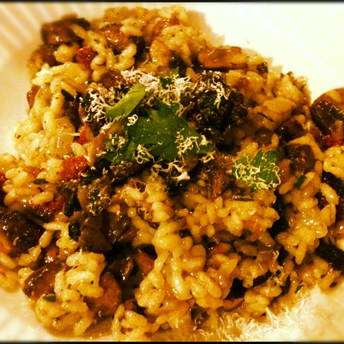 Homemade mushroom and sun dried tomato risotto with truffle oil and parmesan cheese, yummmm | by aliaKJ
