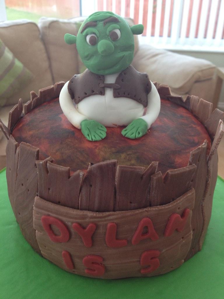 Awesome Shrek Birthday Cake A Photo On Flickriver Funny Birthday Cards Online Elaedamsfinfo