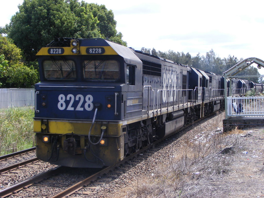 Pacific National 8228, 8234, 8236 and 8257 Sandgate 18.02.10 by Andy Cole