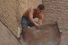 Removing a roof in Tblisi