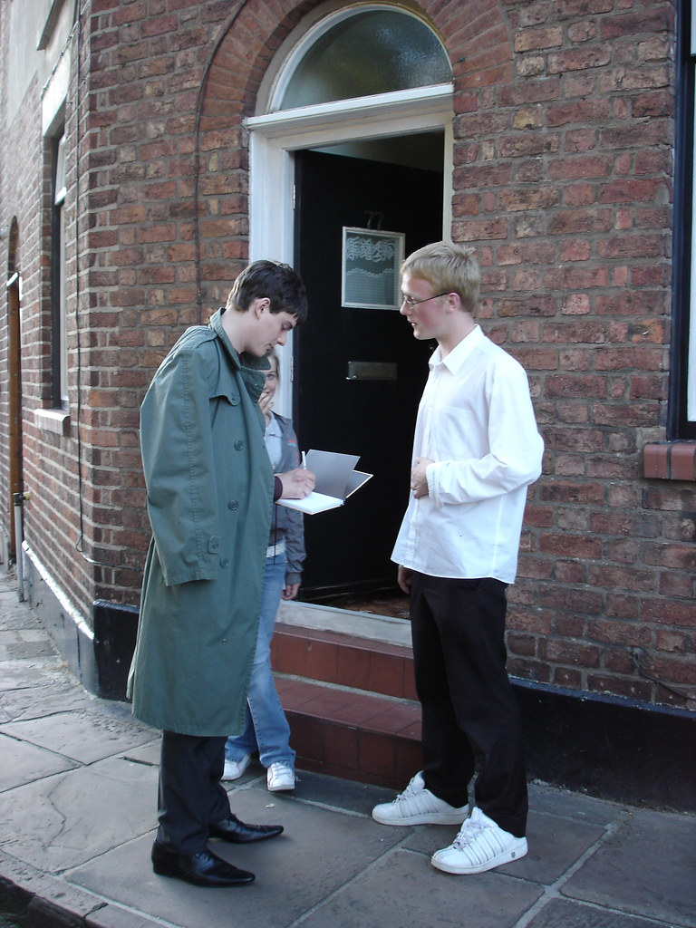 The making of Control, 2006: Actor Sam Riley signing autog