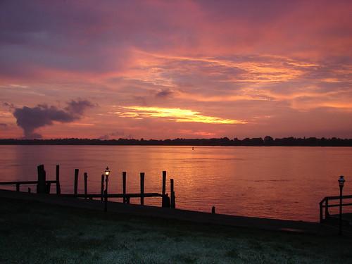 sun reflection saint sunrise river colorful alicia drew clair