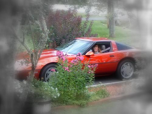 red car photoshop corvette lois rivervalleyvettes redvette