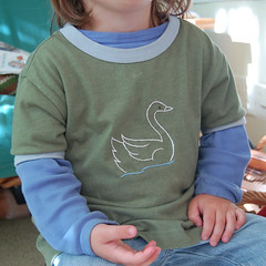 swan shirt   by SouleMama