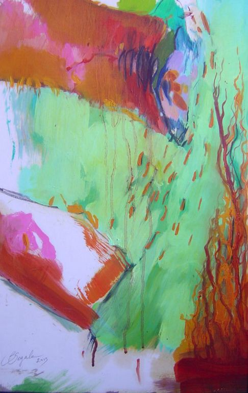 Fiamma - 48x31 cm Oil on paper 2014