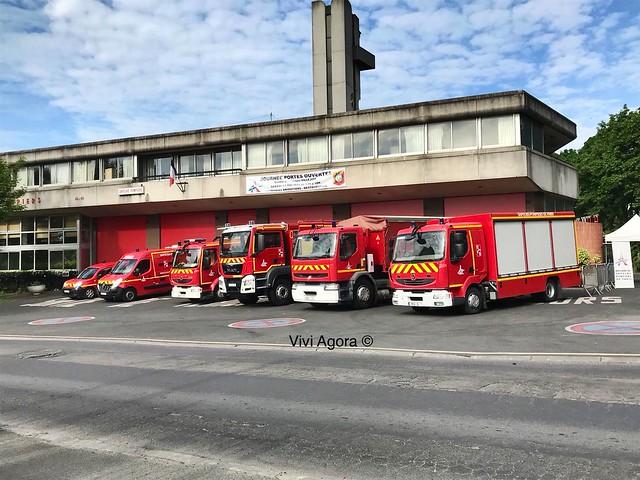 Camions des sapeurs pompiers de Paris (Villejuif)