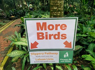A sign in the bird park | by steve.upton