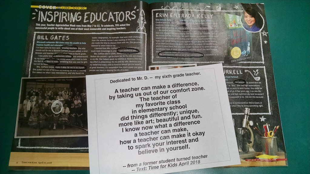 Kevin's Meandering Mind   Found Appreciation Poems for Teachers