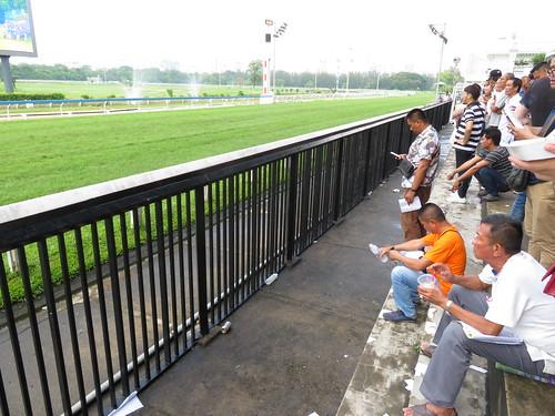 タイの競馬場の直線走路