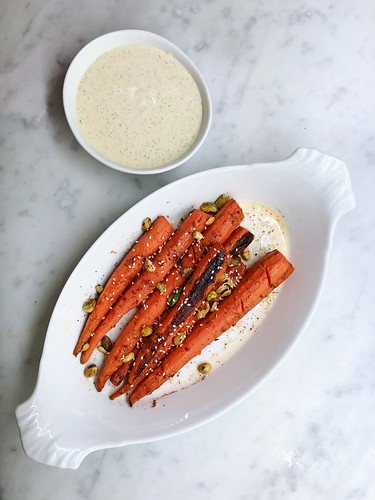 roasted carrots + all-the-herbs yogurt | by sassyradish