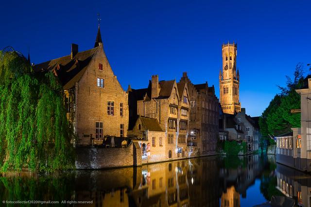 Rozenhoedkaai Bruges blue hour (2)