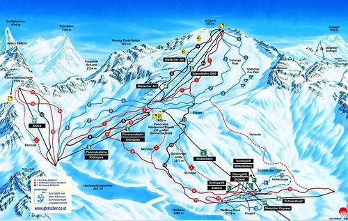 Mölltaler Gletscher - mapa sjezdovek