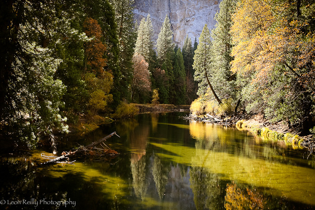 Merced River in Autumn, Yosemite National Park.
